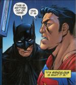 Superman has a big jaw