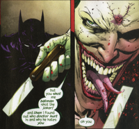 Look at the Joker doing gross shit to himself
