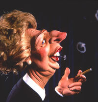 Margaret thatcher ain't that attractive in this pic but it might be a cartoon