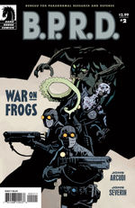 Bprd war on frogs # 2 cover