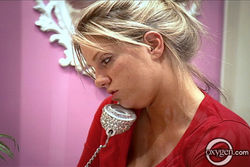 Amber b on phone