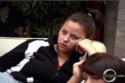 Sarah at the house meeting