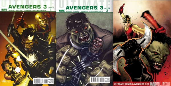 Ultimate Avengers 3 Covers